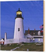 Pemaquid Point Lighthouse Maine Wood Print