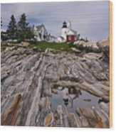 Pemaquid Reflections Wood Print by M S McKenzie