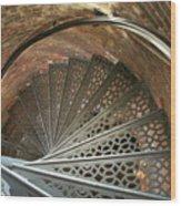 Pemaquid Spiral Wood Print by Theresa Willingham