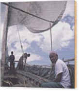 Pemba Boat Wood Print