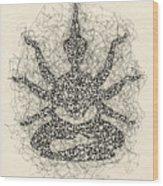 Pen And Ink Drawing Buddha  Wood Print