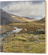 Pen Yr Ole Wen And Tryfan Mountain Wood Print