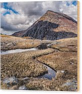 Pen Yr Ole Wen Mountain Wood Print