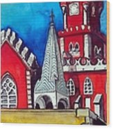 Pena Palace In Portugal Wood Print