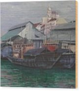 Penang Jetty Wood Print