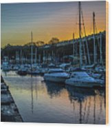 Penarth Harbour In Wales Wood Print