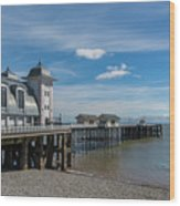 Penarth Pier Glorious Day Wood Print