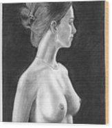 Pencil Drawing Classic Nude Woman Www.olgabell.ca Wood Print