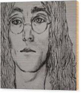 Pencil Portrait Of John Lennon  Wood Print