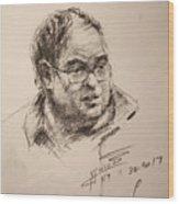 Sketch Man 8 Wood Print