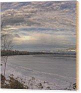 Pend D'oreille Lake Panorama Wood Print