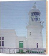 Pendeen Lighthouse Cornwall Wood Print