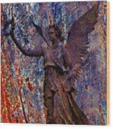Pending Victory Goddess Victoria Wood Print
