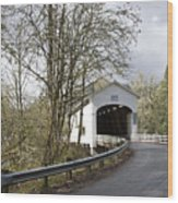 Pengra Covered Bridge Wood Print