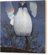 Penguin Angel Wood Print
