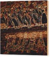 Penguin Reflections Wood Print
