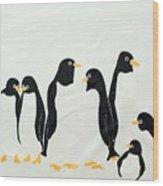Penguins  -2 Wood Print