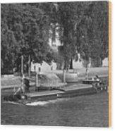 Peniche On River Seine Wood Print