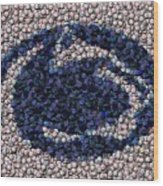Penn State Bottle Cap Mosaic Wood Print