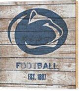 Penn State // Football // Distressed Wood Wood Print