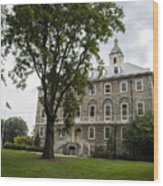 Penn State Old Main From Side  Wood Print