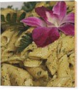 Penne Pasta Dish Wood Print