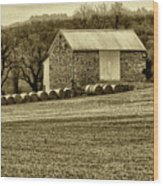 Pennsylvania Barn Wood Print