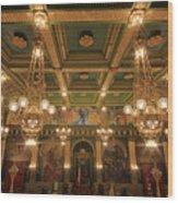 Pennsylvania Senate Chamber Wood Print by Shelley Neff