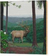 Pennsylvanian Elk Wood Print