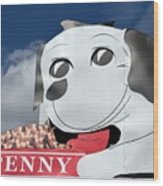 Penny Dog Food Sign 3 Wood Print