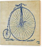 Penny-farthing 1867 High Wheeler Bicycle Vintage Wood Print by Nikki Marie Smith