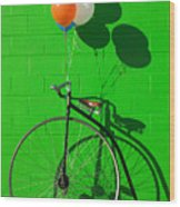 Penny Farthing Bike Wood Print