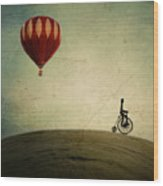 Penny Farthing For Your Thoughts Wood Print