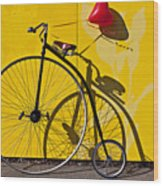 Penny Farthing Love Wood Print