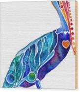 Penny Pelican Wood Print