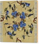 Penny Postcard Silk-stitched Wood Print