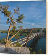 Pennybacker Bridge 2 Wood Print