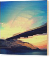 Pennybacker Bridge Wood Print