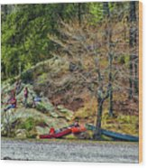 Pennyrile Park Canoes Wood Print