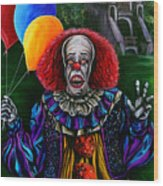 Pennywise It Wood Print