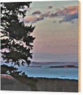 Penobscot Bay At Dusk Wood Print