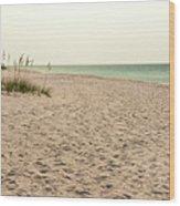 Pensacola Beach 2 Panorama - Pensacola Florida Wood Print