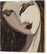 Pensive Wood Print