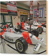 Penske Racing Indy 500 Hall Of Fame Museum Wood Print