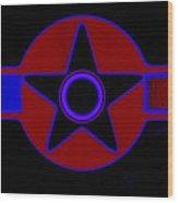 Pentagram In Red Wood Print