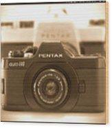 Pentax 110 Auto Wood Print