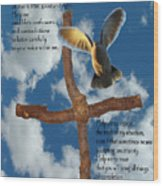 Pentecost Holy Spirit Prayer Wood Print