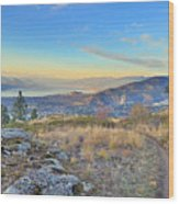 Penticton In The Distance Wood Print