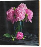 Peonies - Beauty The Brave Wood Print