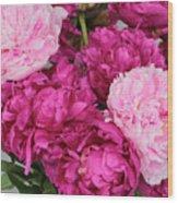Peony Bouquet Wood Print